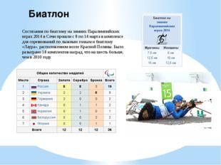 Биатлон Состязания по биатлону на зимних Паралимпийских играх 2014 в Сочи про
