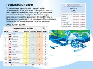 Горнолыжный спорт Соревнования по горнолыжному спорту на зимних Паралимпийски