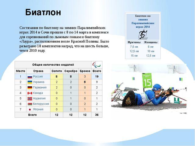 Биатлон Состязания по биатлону на зимних Паралимпийских играх 2014 в Сочи про...