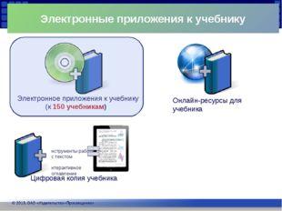 Электронные приложения к учебнику Электронное приложения к учебнику (к 150 у