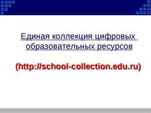 Единая коллекция цифровых образовательных ресурсов (http://school-collection.