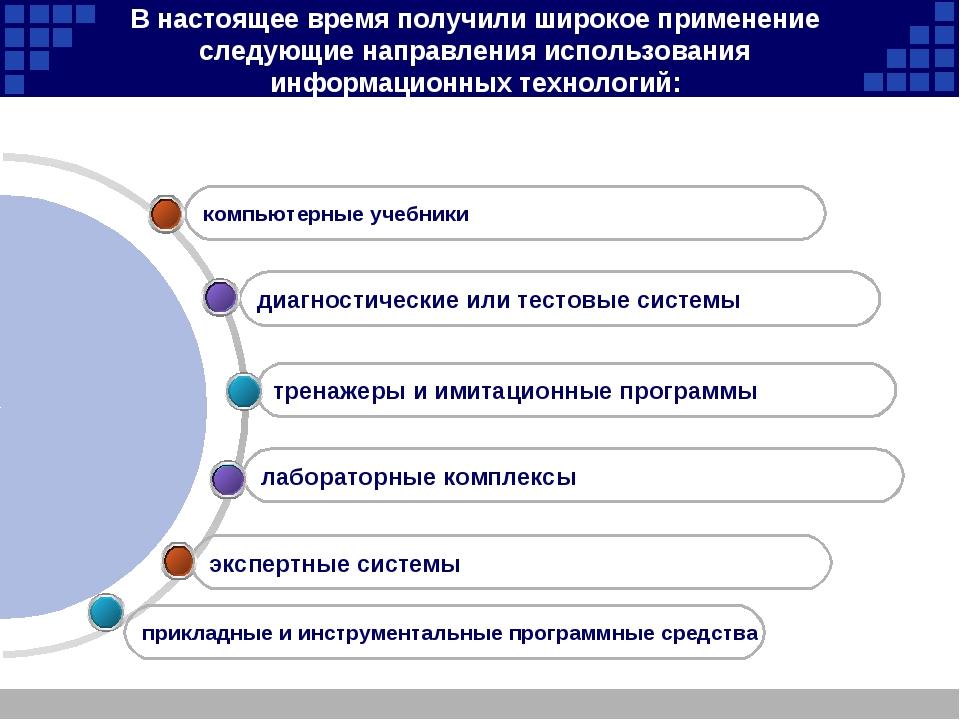 В настоящее время получили широкое применение следующие направления использов...