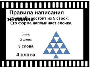 Правила написания синквейна Синквейн состоит из 5 строк; Его форма напоминае
