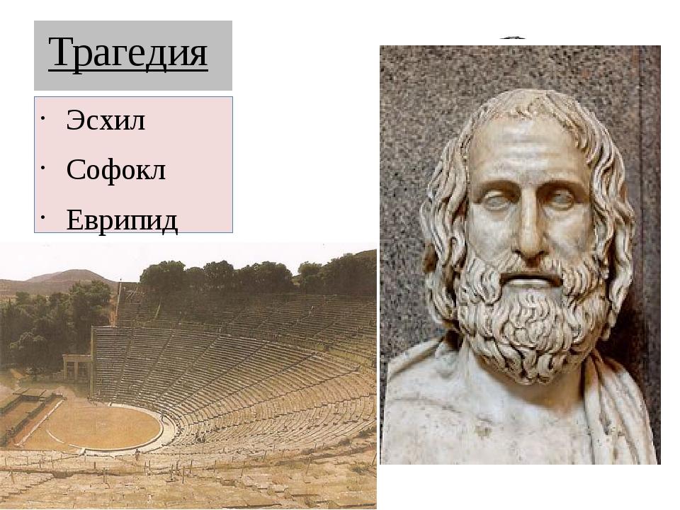 Трагедия Эсхил Софокл Еврипид