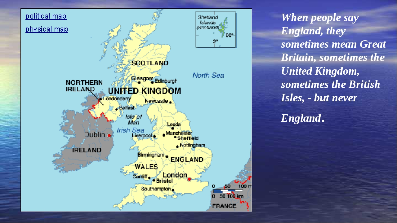 When people say England, they sometimes mean Great Britain, sometimes the Uni...