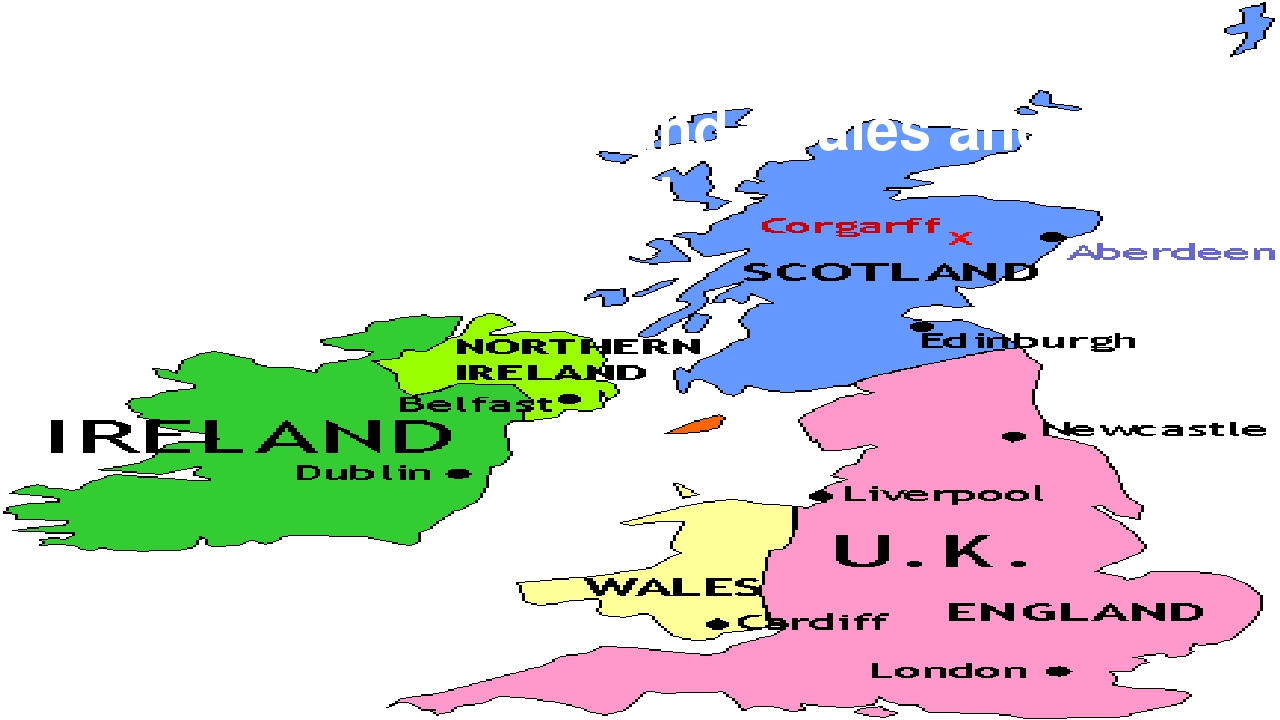 It consists of four parts: England, Scotland, Wales and Northern Ireland.