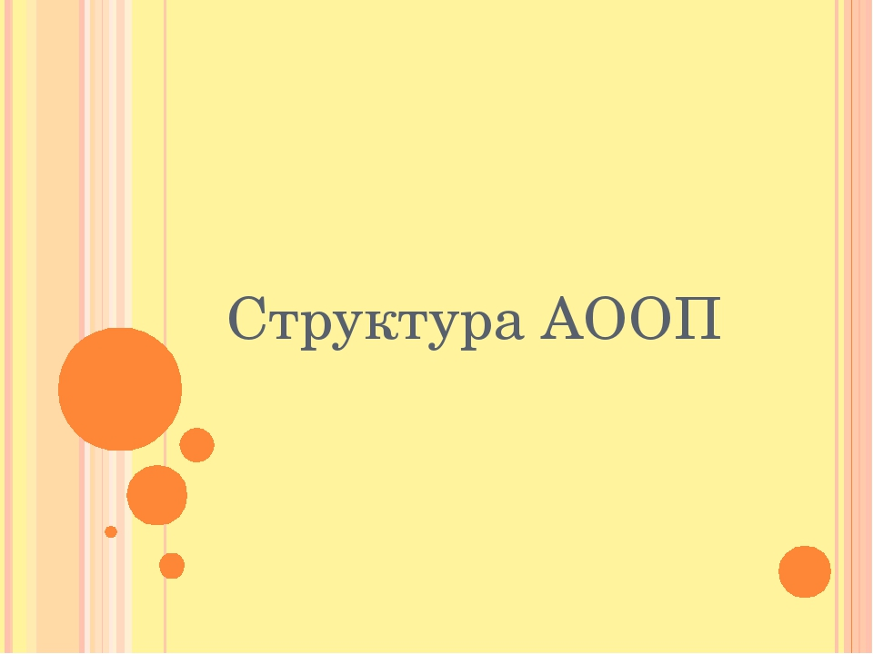 Структура АООП