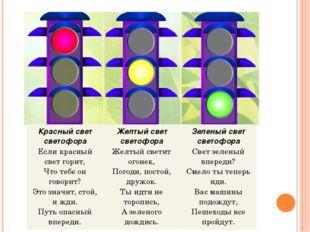 Красный свет светофора Если красный свет горит, Что тебе он говорит? Это знач
