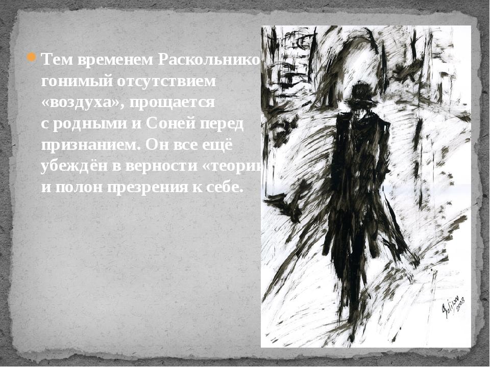 Тем временем Раскольников, гонимый отсутствием «воздуха», прощается сродными...
