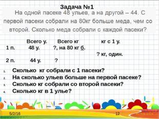 Всего у. Всего кг кг с 1 у. 1 п. 48 у. ?, на 80 кг б. ? кг, один. 2 п. 44 у.