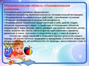 Образовательная область «Познавательное развитие». Познавательное развитие пр