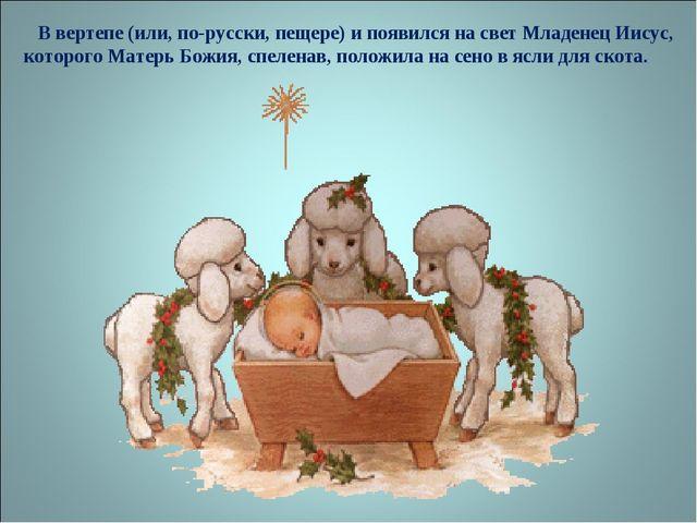 В вертепе (или, по-русски, пещере) и появился на свет Младенец Иисус, которо...