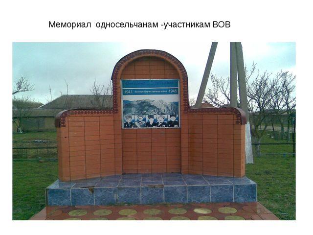 Мемориал односельчанам -участникам ВОВ