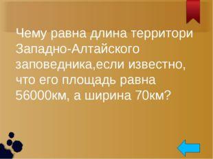 Чему равна длина территори Западно-Алтайского заповедника,если известно, что