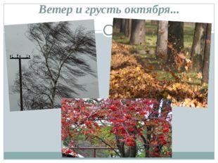 Ветер и грусть октября...