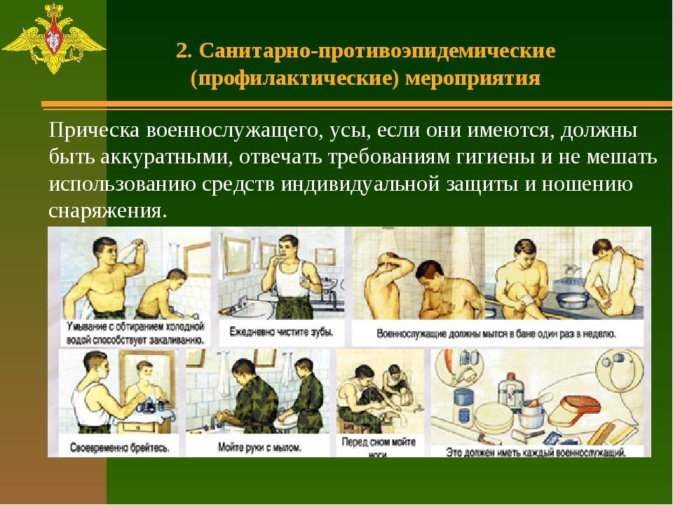 2. Санитарно-противоэпидемические (профилактические) мероприятия Прическа вое...