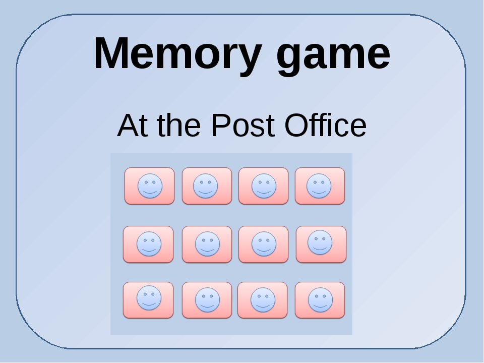 Memory game At the Post Office
