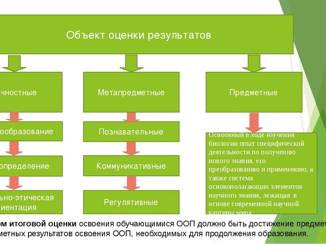 Объект оценки результатов Личностные Предметные Метапредметные Морально-этиче...