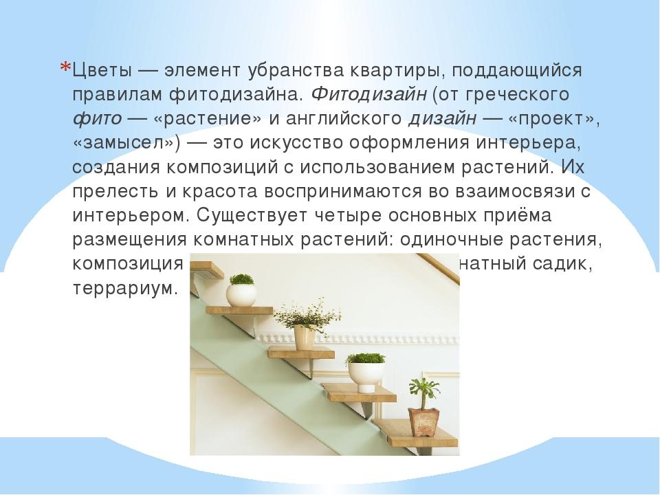 Цветы — элемент убранства квартиры, поддающийся правилам фитодизайна. Фитодиз...