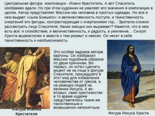 Фигура Иоанна Крестителя  Фигура Иисуса Христа Центральная фигура композиции