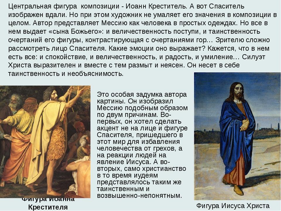 Фигура Иоанна Крестителя  Фигура Иисуса Христа Центральная фигура композиции...