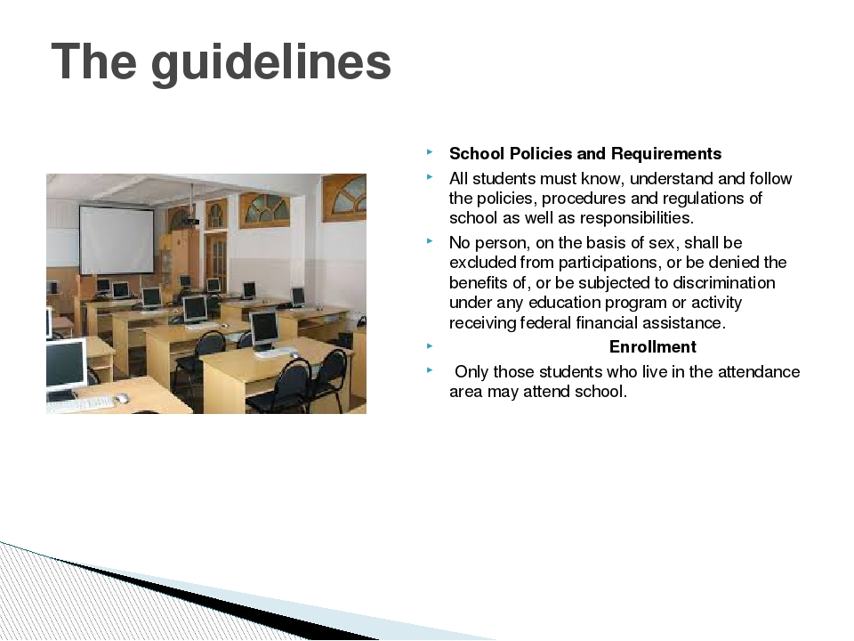 School Policies and Requirements All students must know, understand and follo...