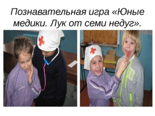 Познавательная игра «Юные медики. Лук от семи недуг».