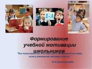 Формирование учебной мотивации школьников