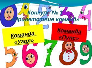 Конкурс № 1 «Приветствие команд» Команда «Угол» Команда «Пупс»
