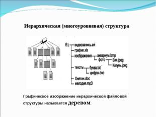 Иерархическая (многоуровневая) структура Графическое изображение иерархическо