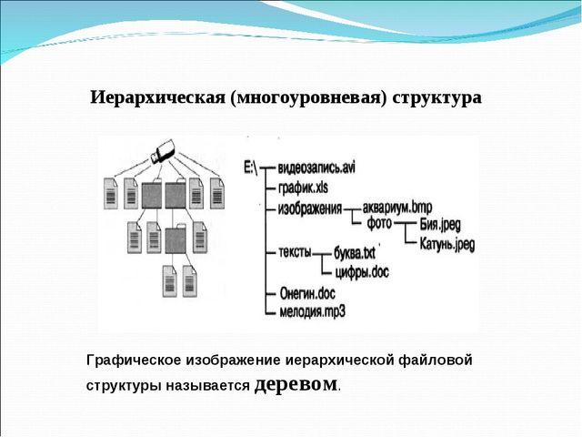 Иерархическая (многоуровневая) структура Графическое изображение иерархическо...