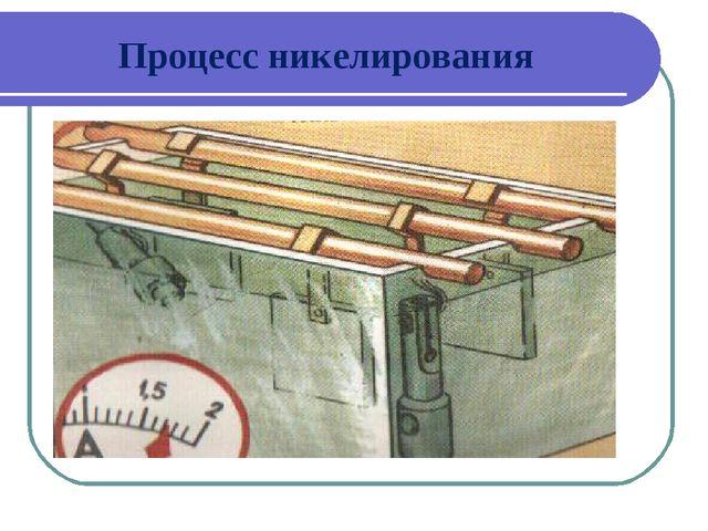 Процесс никелирования