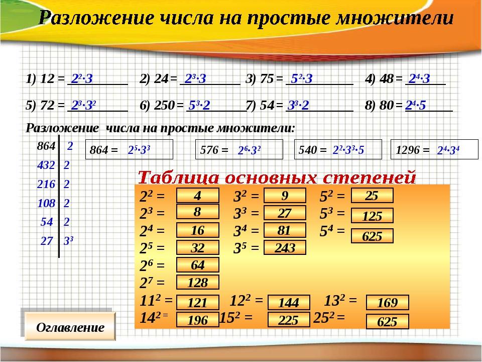 1) 12 = _________ 2) 24 = _________ 3) 75 = __________ 4) 48 = ______ 5) 72 =...