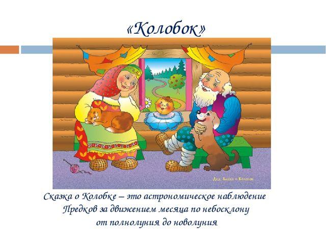«Колобок» Сказка о Колобке – это астрономическое наблюдение Предков за движен...