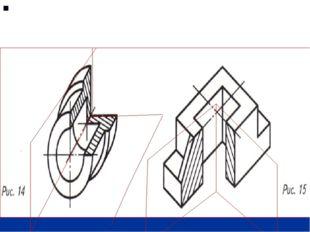 Если деталь имеет две плоскости симметрии, то секущие плоскости совпадают с