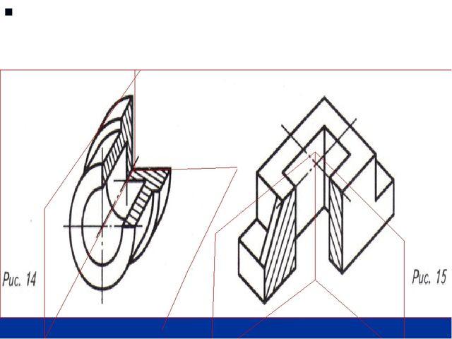 Если деталь имеет две плоскости симметрии, то секущие плоскости совпадают с...