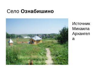 Село Ознабишино Источник Михаила Архангела