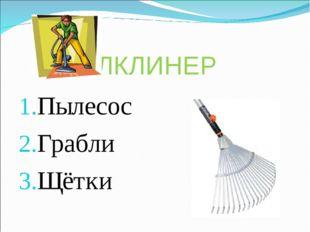 КЛКЛИНЕР Пылесос Грабли Щётки