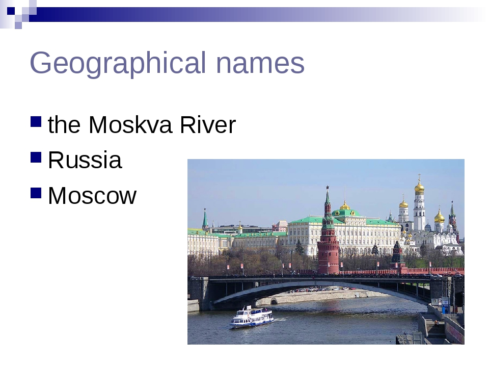 Geographical names the Moskva River Russia Moscow