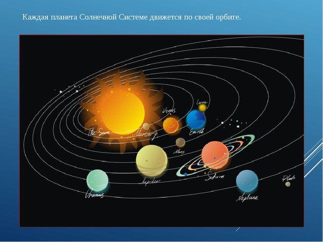 Каждая планета Солнечной Системе движется по своей орбите.