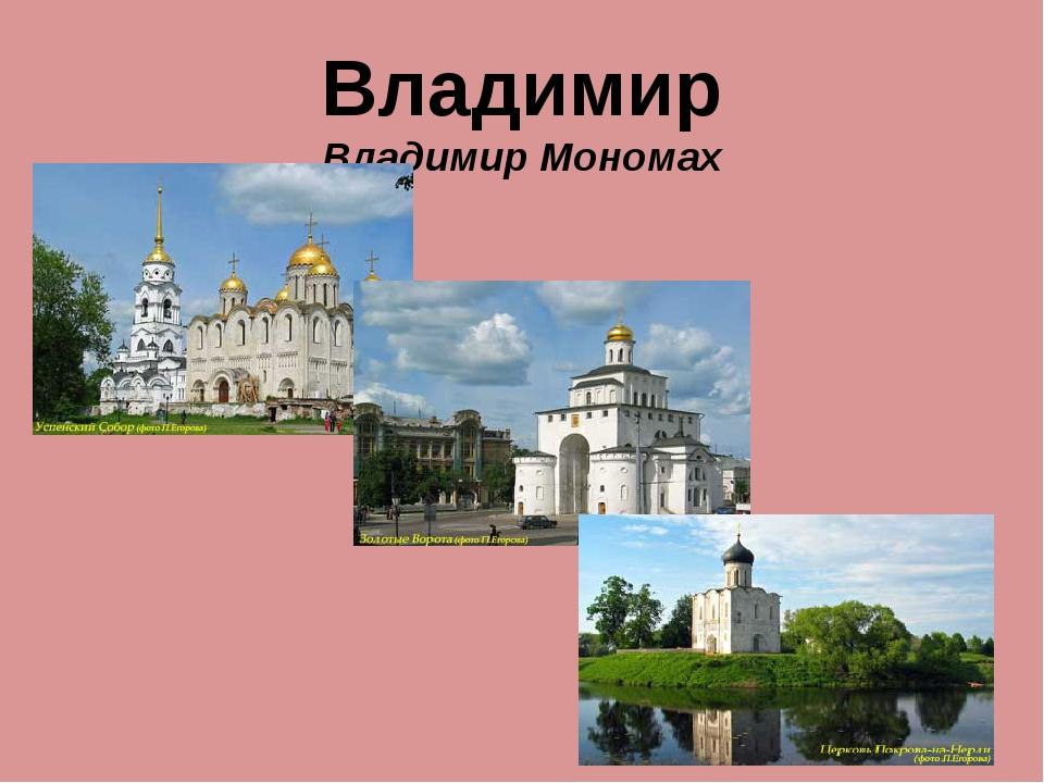 Владимир Владимир Мономах