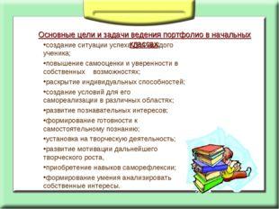 Основные цели и задачи ведения портфолио в начальных классах: создание ситуац