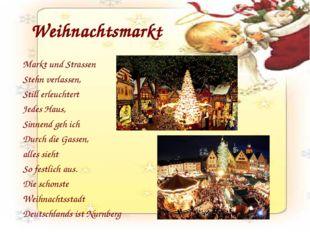 Weihnachtsmarkt Markt und Strassen Stehn verlassen, Still erleuchtert Jedes H