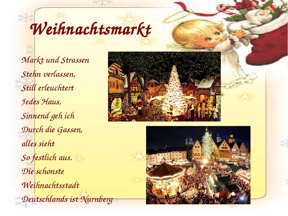 Weihnachtsmarkt Markt und Strassen Stehn verlassen, Still erleuchtert Jedes H...