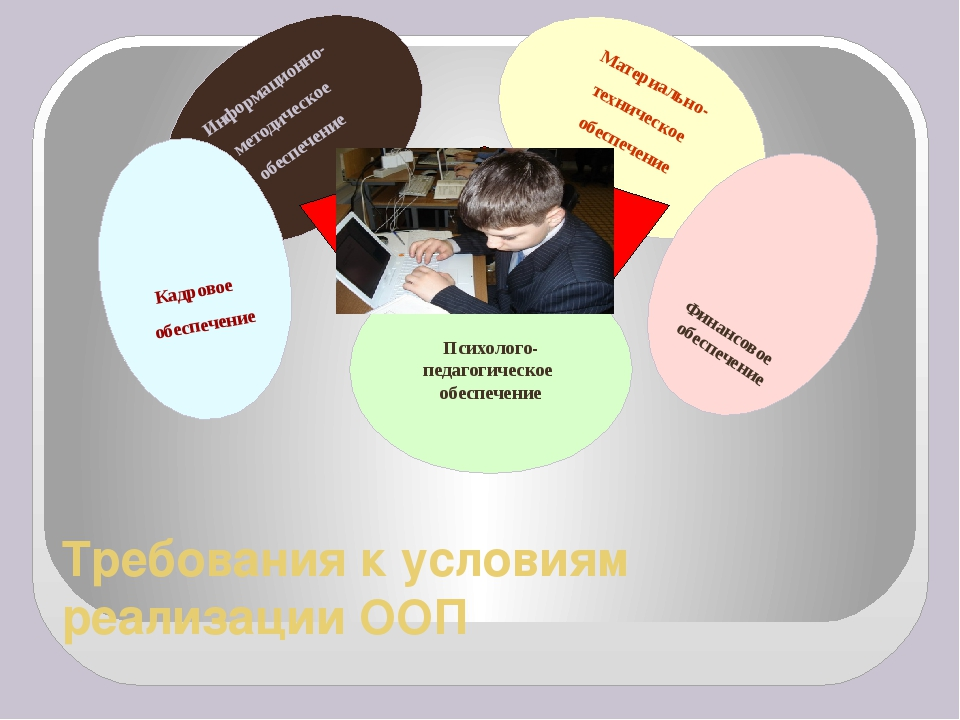 Требования к условиям реализации ООП Информационно- методическое обеспечение...