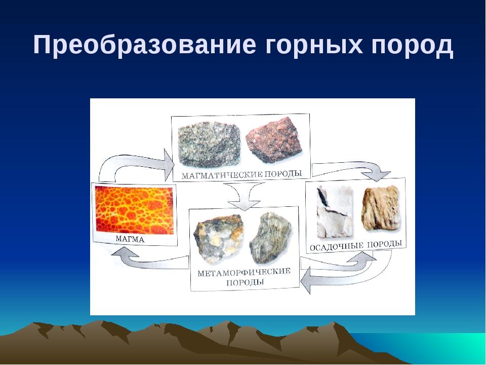 Преобразование горных пород