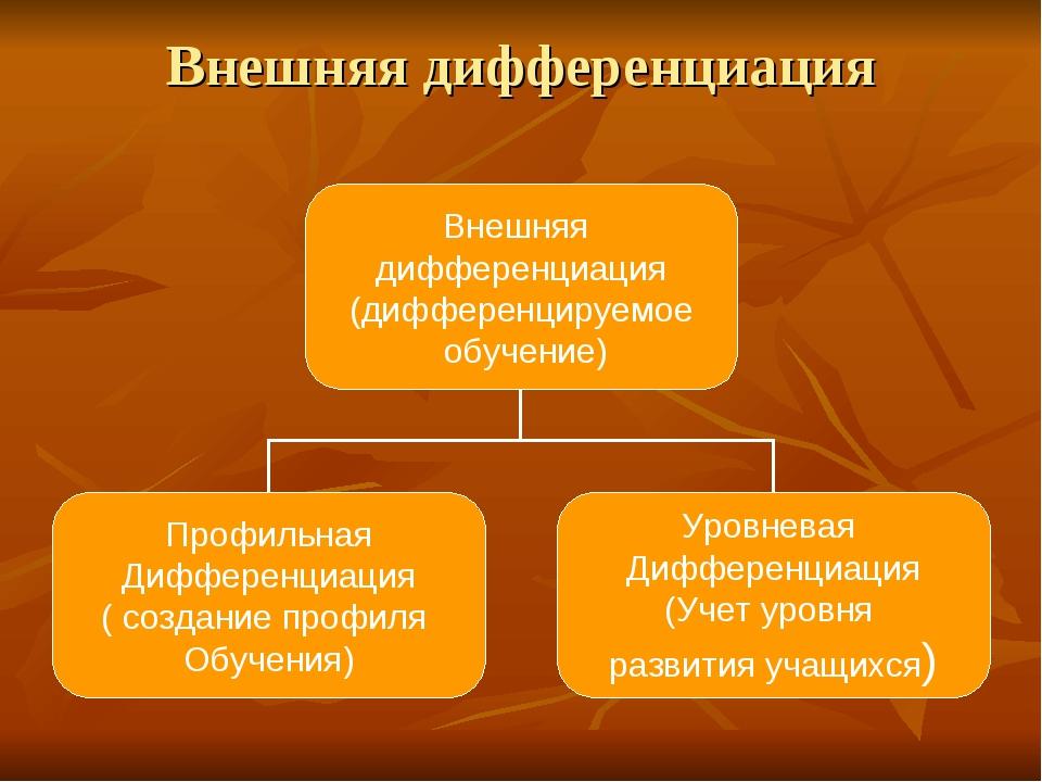 Внешняя дифференциация