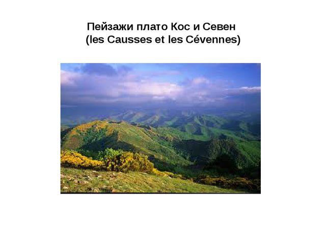 Пейзажи плато Кос и Севен (les Causses et les Cévennes)