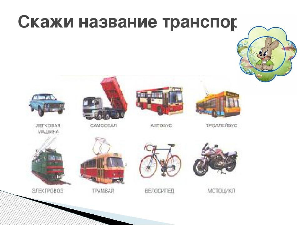 Скажи название транспорта