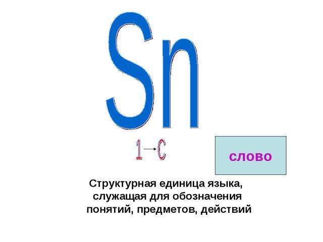 Структурная единица языка, служащая для обозначения понятий, предметов, дейст...